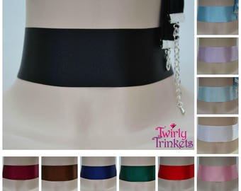 SATIN WIDE CHOKER - Choose Your Plain Classic Extra Wide 35mm Ribbon Colour (Berisfords Quality - Handmade To Size) - fr
