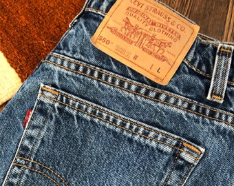 30 Waist | Orange Tab Levi's 550 High Waist Mom Jeans