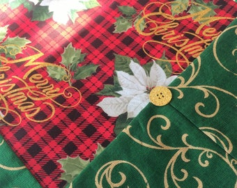 Christmas Table Runner - Traditional Christmas - Red Plaid Linens