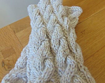 Hand Knitted Fingerless Gloves /Wristwarmers