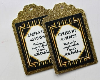 1920s Great Gatsby Inspired Favor Tags