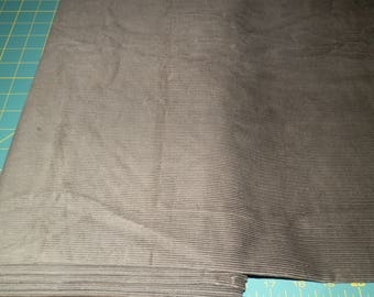 Gray Corduroy Fabric 1/2 yard