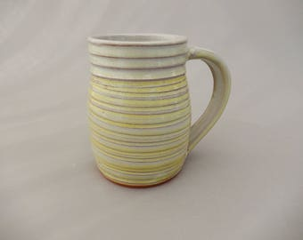 Yellow Pottery Coffee Cup - Glazed Terracotta Mug - Handmade Ceramic Gift