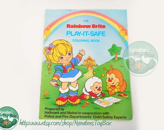 Vintage Rainbow Brite Play-it-Safe Coloring Book 1980s