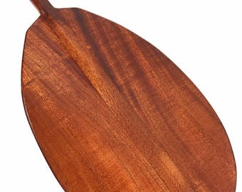 "Blonde Koa Paddle 60"" Straight Shaft - Steersman Design Made In Hawaii - Commemorative Gift 