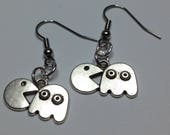 Gorgeous Geekery Om Nom Nom Retro Gamer Earrings - Video Game, Jeu Video, Console, 80s Nostalgia - Great Gift!