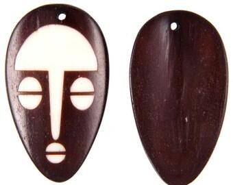 Batik Bone Mask Pendant -57mm