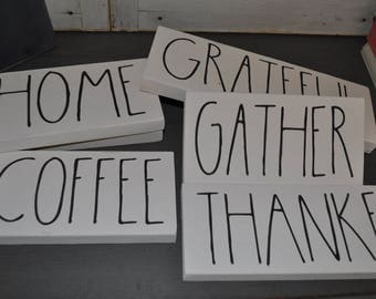 Rae Dunn inspired signs