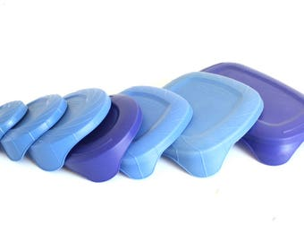 Rubbermaid Servin Saver Lids Easy Tab Blue Covers with EZ Topps Pull Corner or Replacement Container