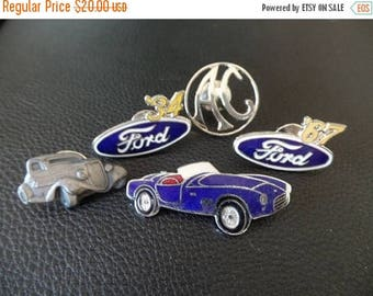 30% OFF SALE VTG Ford Automobile Lapel Pins Cars Logo Lot of 5
