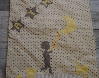 """Baby """"little boy to the Moon"""" for Ayman blanket"""