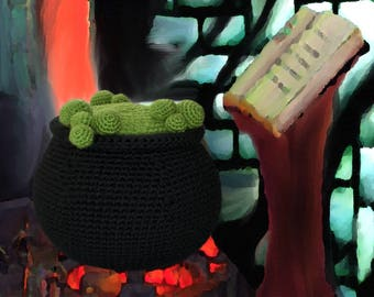 Crochet Pattern ~ Cauldron ~ Crochet Pattern