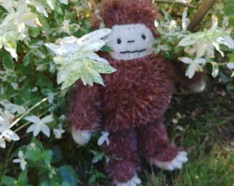 Big Jeff the Sasquatch.  A friend you can believe in.  Bigfoot stuffed animal, hand knit by me.