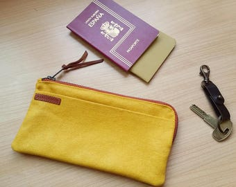 travel wallet - Passport holder - card holder - gift for him -gift for her- travel accessories