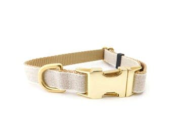Burlap Dog Collar, Personalized Collar
