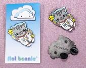 Cat enamel pin sale, Space cat jacket pin, Cute cat lover gift, Kawaii cat backpack pin, Hard enamel lapel pin, Crazy cat lady, Flat Bonnie