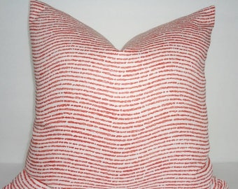 FALL is COMING SALE P. Kaufmann Coral Horizontal Print Pillow Covers Decorative Throw Pillow Covers Choose Size