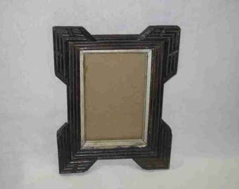 "Neat Vintage 8"" X 10"" Wood Wooden Picture Frame"