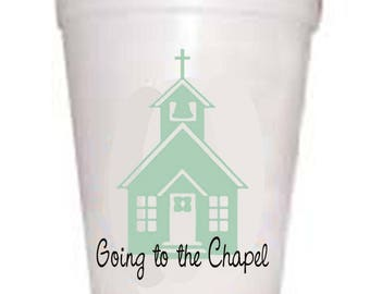 Going to the Chapel-Blue-Wedding Cups 10ea/16oz Styrofoam Cups