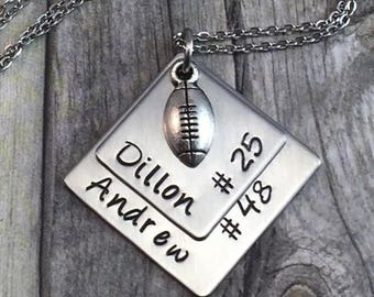 SALE Personalized football necklace,  support your athlete
