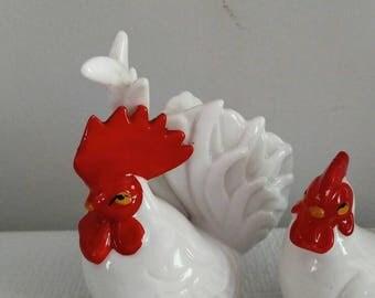 Rooster & Hen Salt Pepper Shaker Set