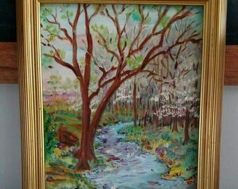 Vintage Spring Painting
