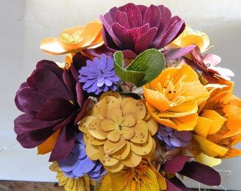 Weekend in New England -NEW for fall - Paper floral bouquet - Weddings, gifts, paper anniversary
