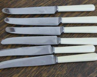 vintage set 6 tea dinner knives