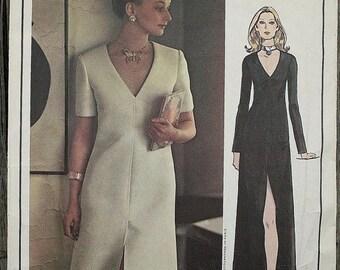 25%off Sizzlin Summer Sal Vogue Paris Original Christian Dior 2607 1970s 70s Midi Maxi Cocktail Evening Dress V neck Slit Vintage Sewing Pat