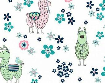 Blush Llama Double Gauze #EMLALLAMABLS fromShannon Fabrics Inc., Embrace Double Gauze Collection-Not Quite a Yard-10% off
