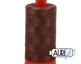 Aurifil Italian Threads-100% Cotton 40wt Piecing and Applique-Large Spool 1092 Yards-2372 Dark Antique Gold