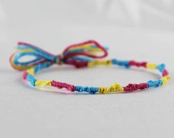 Pansexual Pride Friendship Bracelet LGBT Jewelry