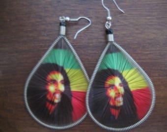 Rasta Thread Earring - Bob Marely