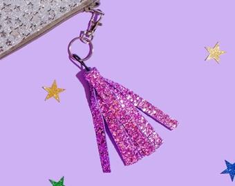 Glitter Tassel Bag Charm