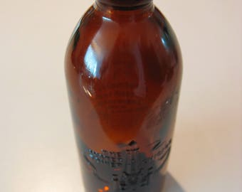 Anchor Hocking 1980 Amber Blobtop Bottle 62nd Annual Soft Drink Expo CHICAGO TOWER
