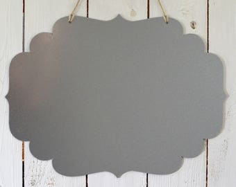 Galvanised steel magnetic board – Memo board - Scalloped shape