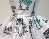 Poodles in Paris ,C'EST LA VIE, Sleeveless Dress for your 18 Inch Doll B