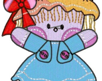4x4 and 6x6 Ragdoll Machine Embroidery Designs.  Downloadable Pes,Jef, Dst, Vp3 formats zip files.