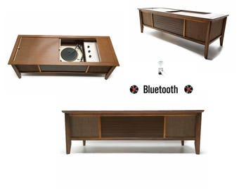 The Vintedge Co™ - AIRLINE Vintage Coffee Table Record Player Changer Stereo Console
