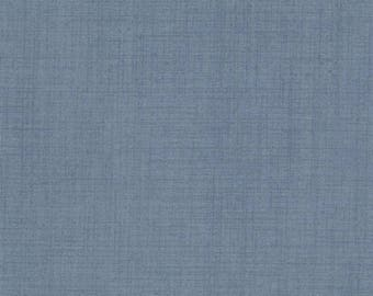 FRENCH GENERAL FAVORITES Moda by the half yard cotton quilt fabric Woad Blue solid like 13529-33