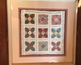 Framed quilt square | Etsy : framed quilt art - Adamdwight.com