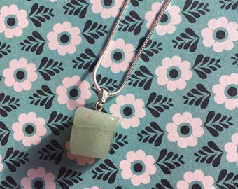 Jade sterling silver crystal necklace / bridesmaid, mother of the bride gift / pendulum
