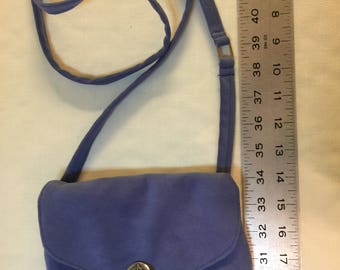 Periwinkle suede purse