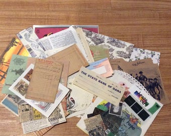 1st lot ephemera and craft supplies old and new DESTASH 4 lots