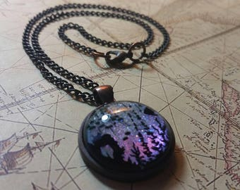 Glow in the dark Underwater Scene Pendant Necklace