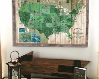 XMAS DEADLINE FOR ALL ORDERS DEC PM By WorldVibeStudio - Us map framed
