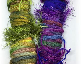 Fiber Wands...Embellishment Samplers of Color and Texture!