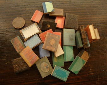 dollhouse ,miniature book,  package of assorted books. 30 pcs 1/12 scale