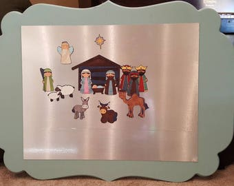 Jumbo Magnetic Nativity Christmas Play Set