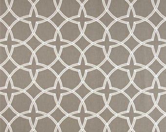 "Two 96"" x 50"" Custom  LINED Curtain Panels - Rod Pocket Panels- Robert Allen Fret Birch Tan"